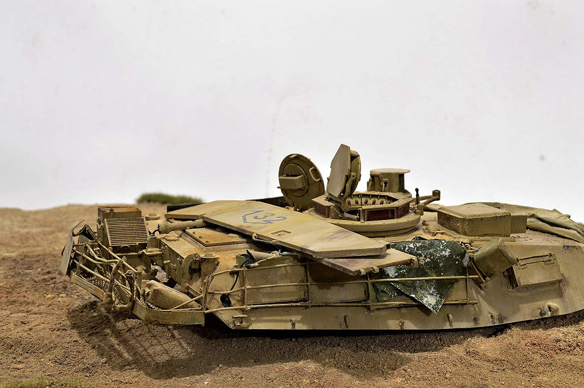 Диорамы и виньетки:  М1А2 Abrams. Башню снесло, фото #13