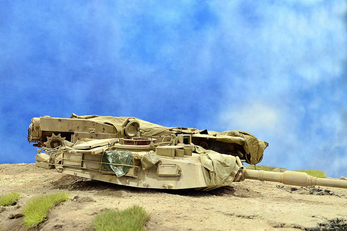 Диорамы и виньетки:  М1А2 Abrams. Башню снесло, фото #16