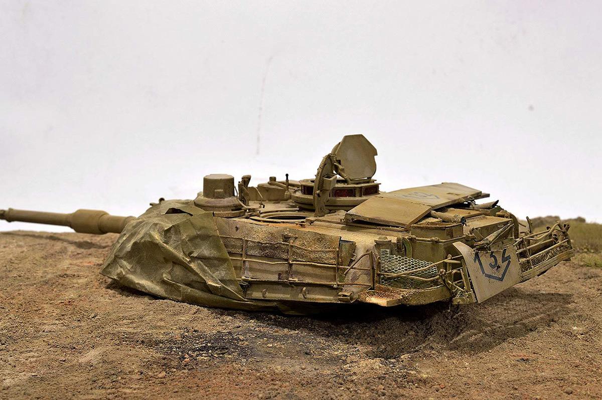 Диорамы и виньетки:  М1А2 Abrams. Башню снесло, фото #17