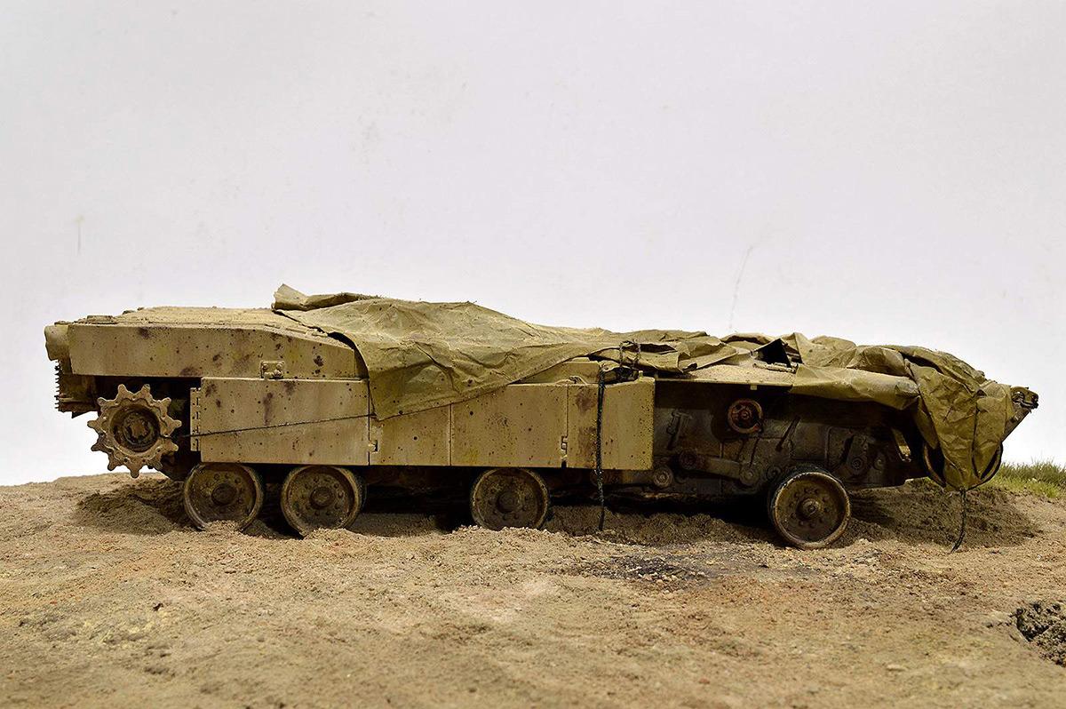 Диорамы и виньетки:  М1А2 Abrams. Башню снесло, фото #18
