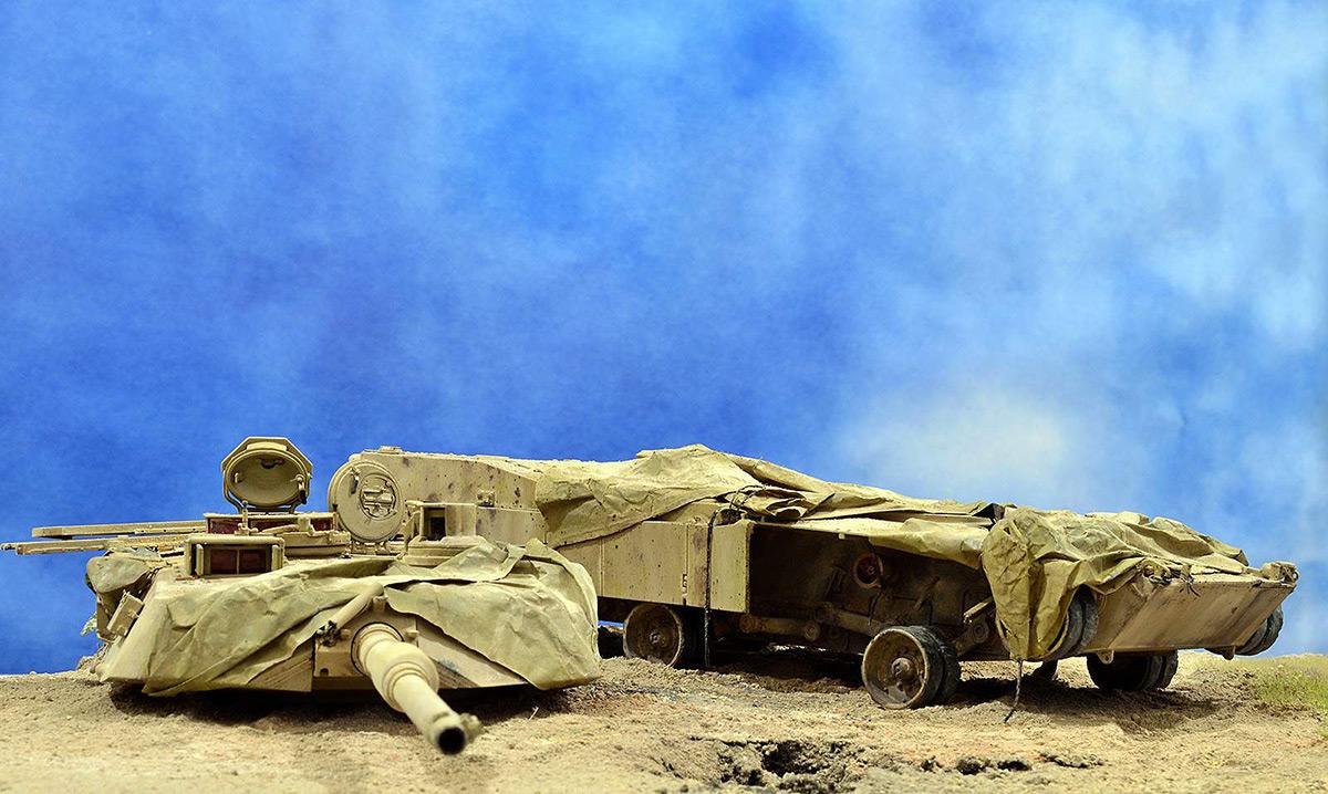 Диорамы и виньетки:  М1А2 Abrams. Башню снесло, фото #2