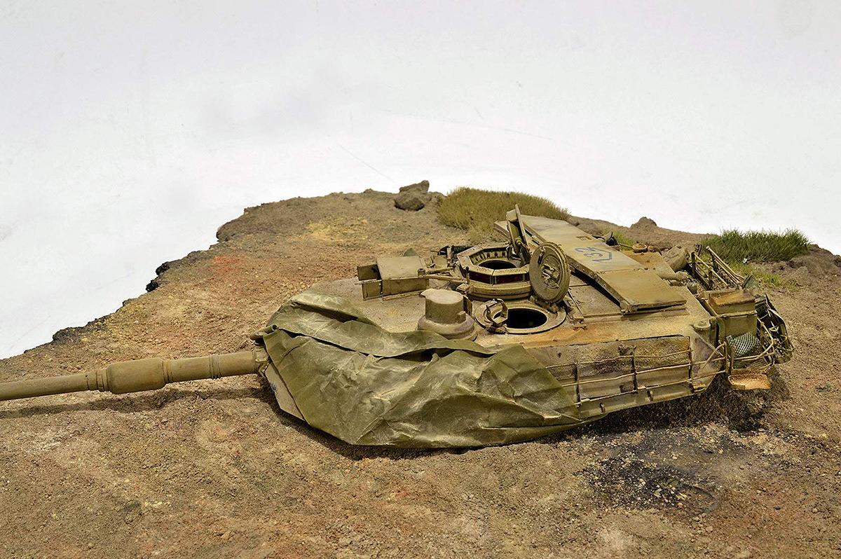 Диорамы и виньетки:  М1А2 Abrams. Башню снесло, фото #21