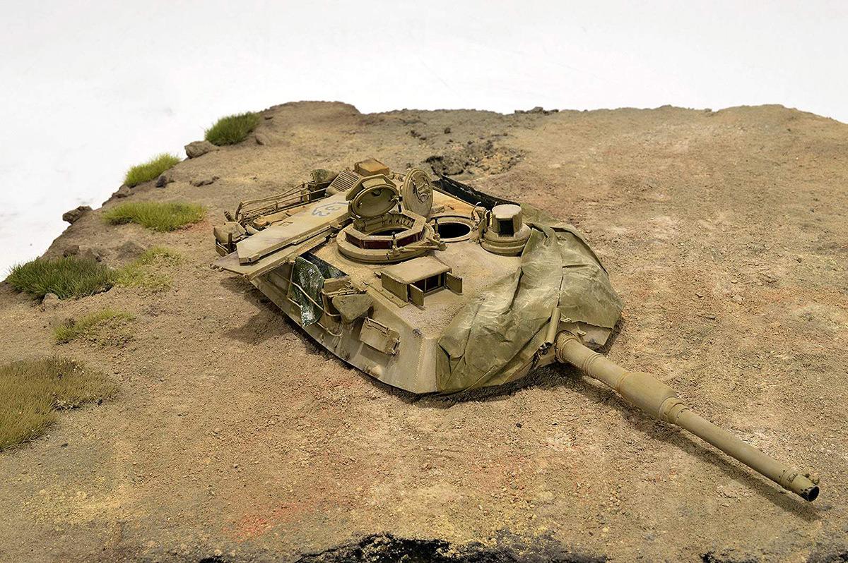 Диорамы и виньетки:  М1А2 Abrams. Башню снесло, фото #24