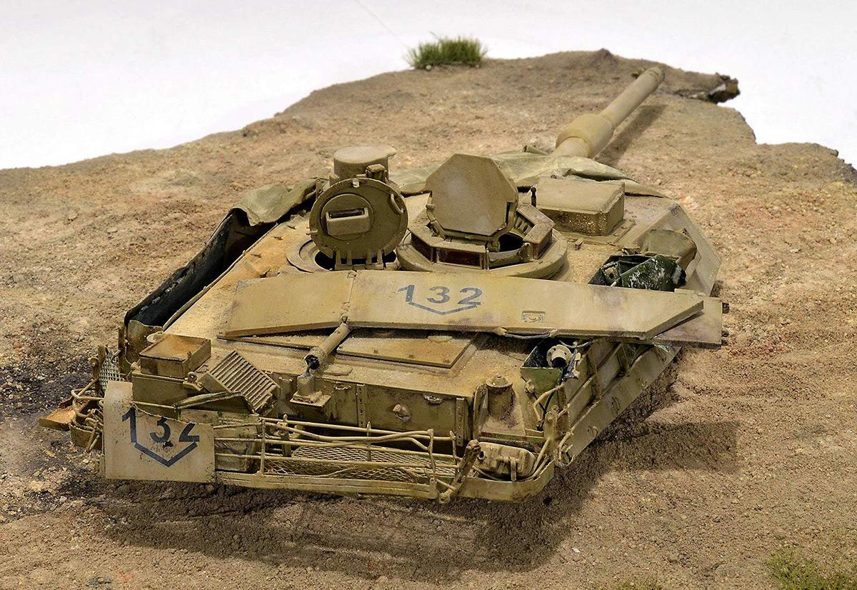 Диорамы и виньетки:  М1А2 Abrams. Башню снесло, фото #25
