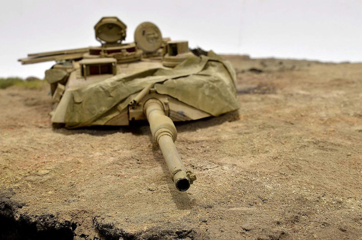 Диорамы и виньетки:  М1А2 Abrams. Башню снесло, фото #26
