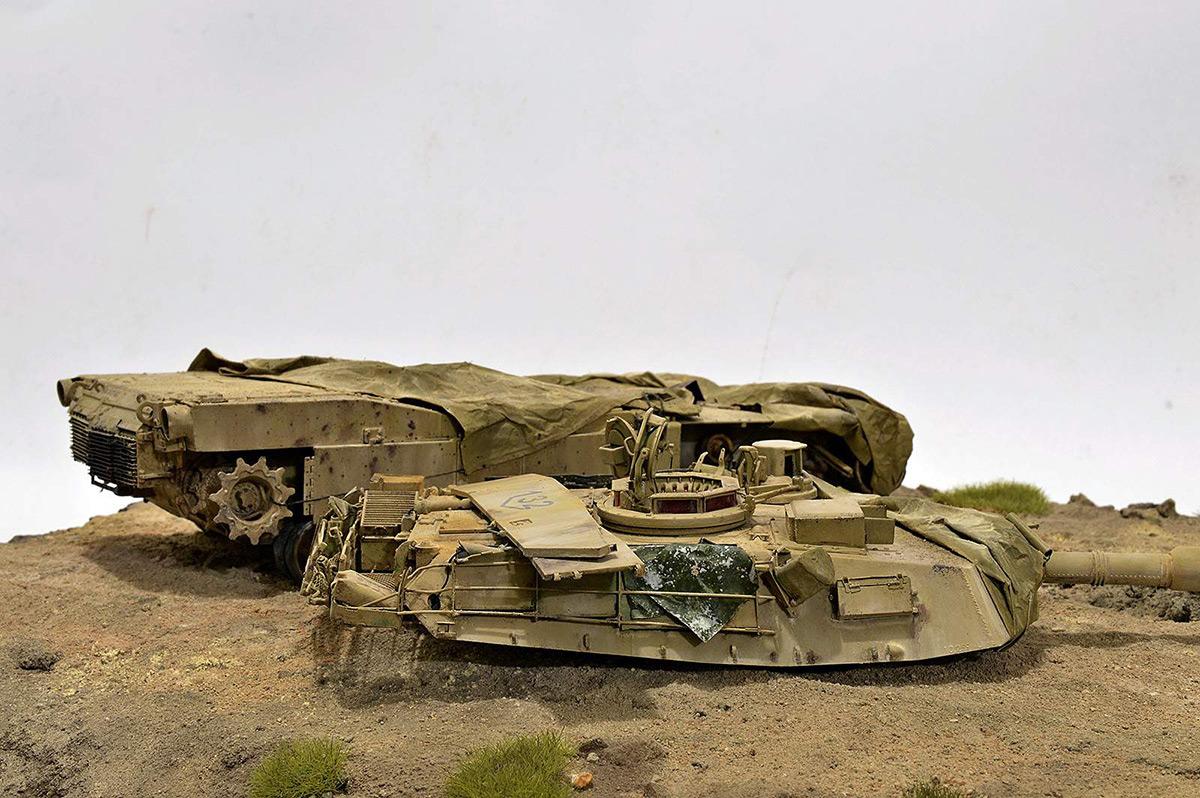 Диорамы и виньетки:  М1А2 Abrams. Башню снесло, фото #27