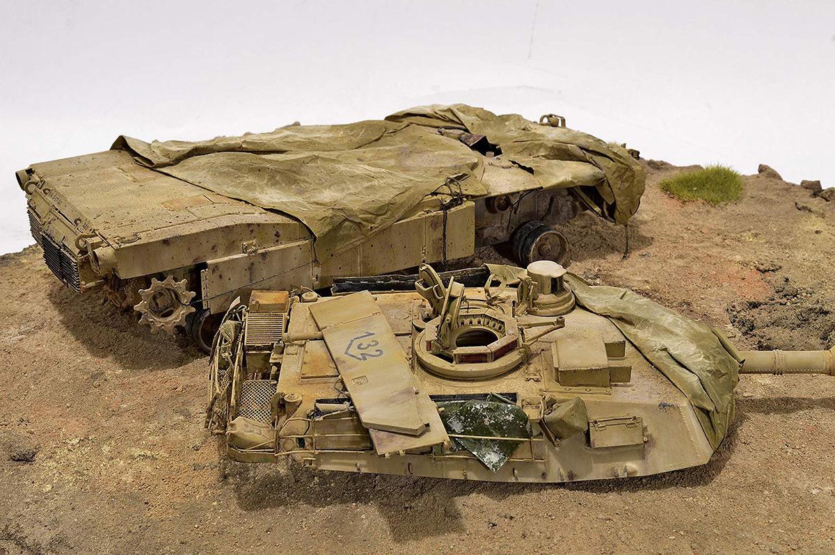 Диорамы и виньетки:  М1А2 Abrams. Башню снесло, фото #28