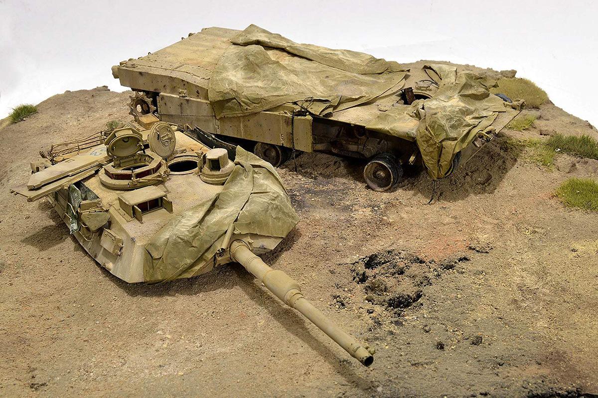 Диорамы и виньетки:  М1А2 Abrams. Башню снесло, фото #29