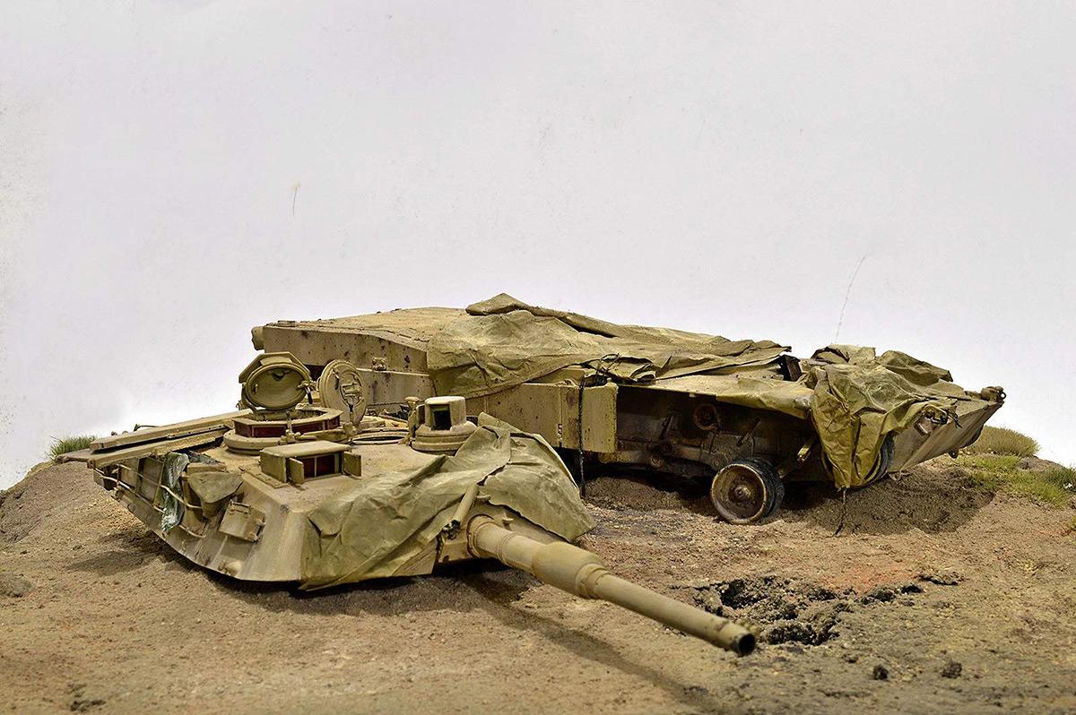 Диорамы и виньетки:  М1А2 Abrams. Башню снесло, фото #3