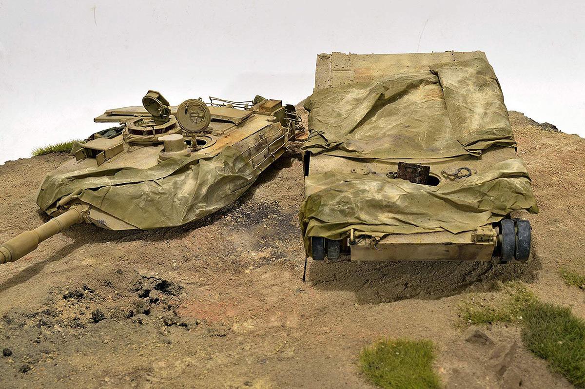Диорамы и виньетки:  М1А2 Abrams. Башню снесло, фото #30