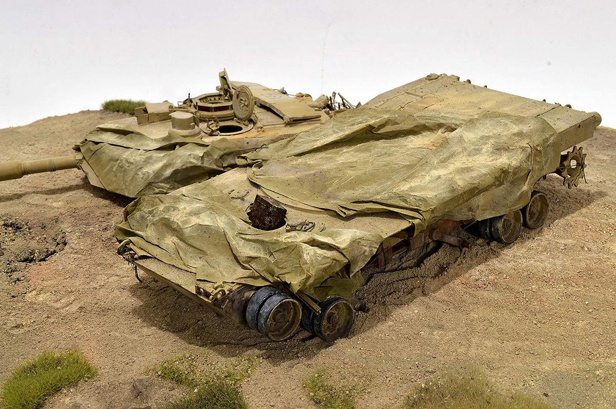 Диорамы и виньетки:  М1А2 Abrams. Башню снесло, фото #31