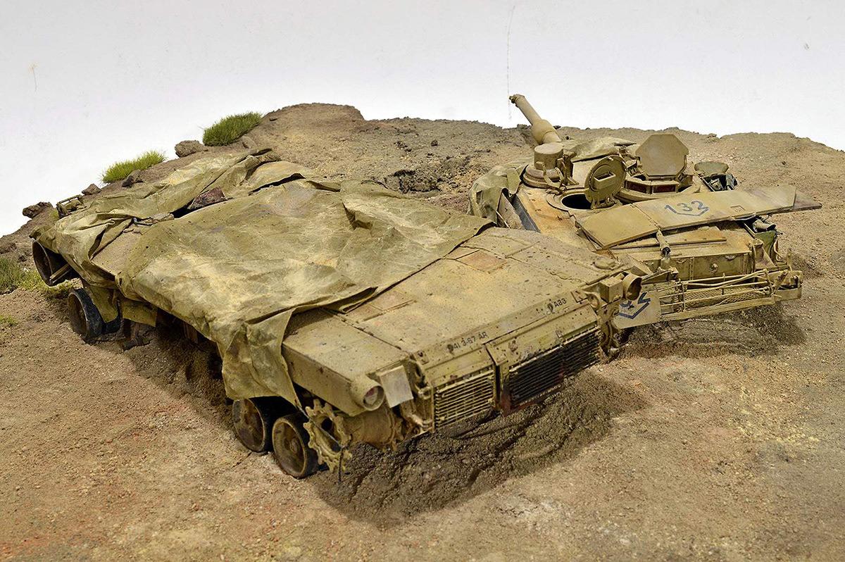 Диорамы и виньетки:  М1А2 Abrams. Башню снесло, фото #32