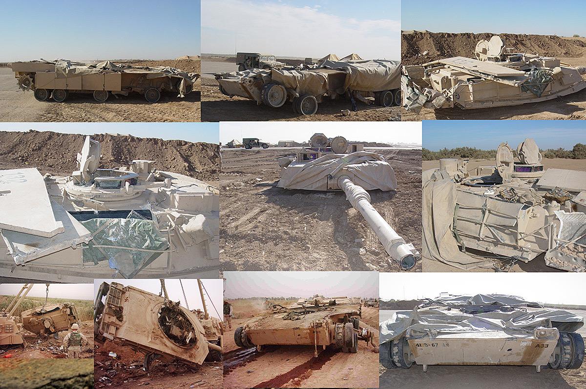 Диорамы и виньетки:  М1А2 Abrams. Башню снесло, фото #33