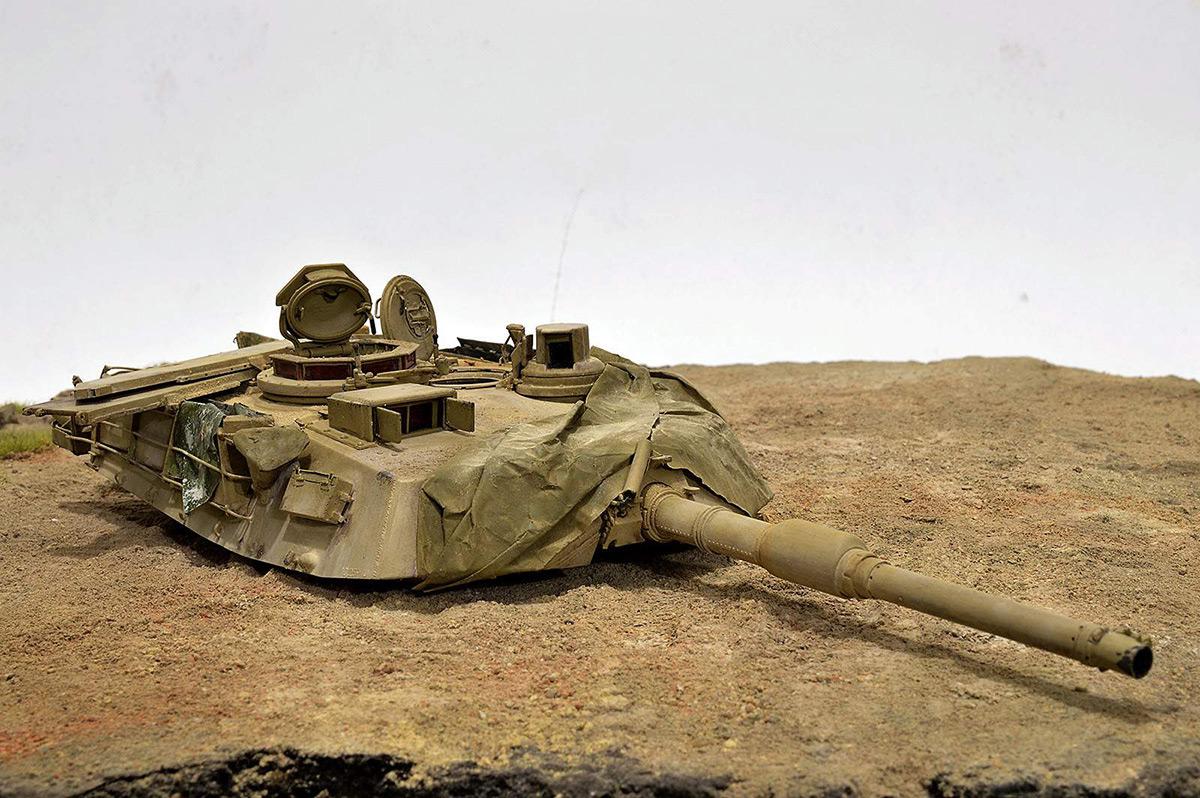 Диорамы и виньетки:  М1А2 Abrams. Башню снесло, фото #4
