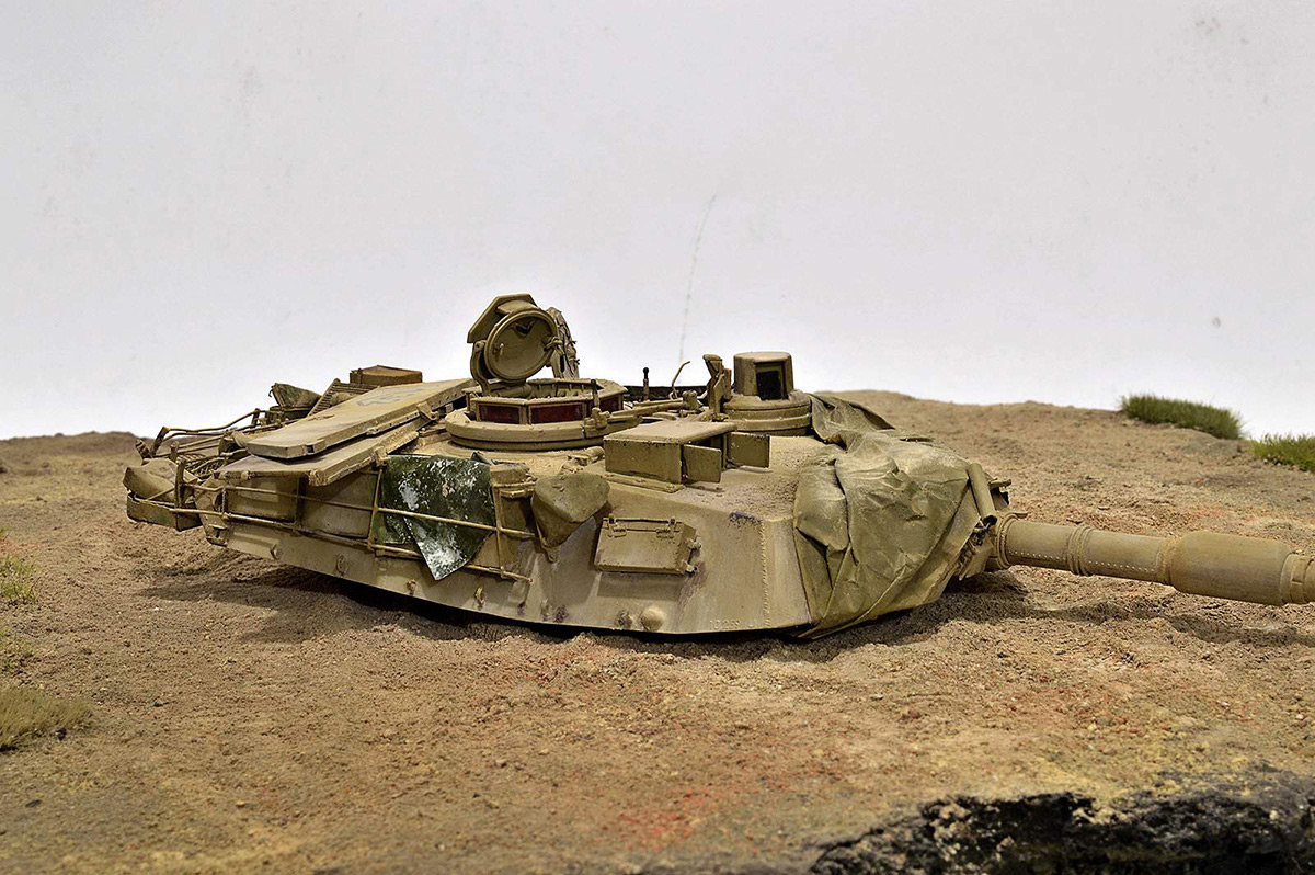 Диорамы и виньетки:  М1А2 Abrams. Башню снесло, фото #5