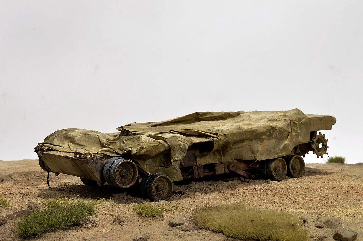 Диорамы и виньетки:  М1А2 Abrams. Башню снесло, фото #6