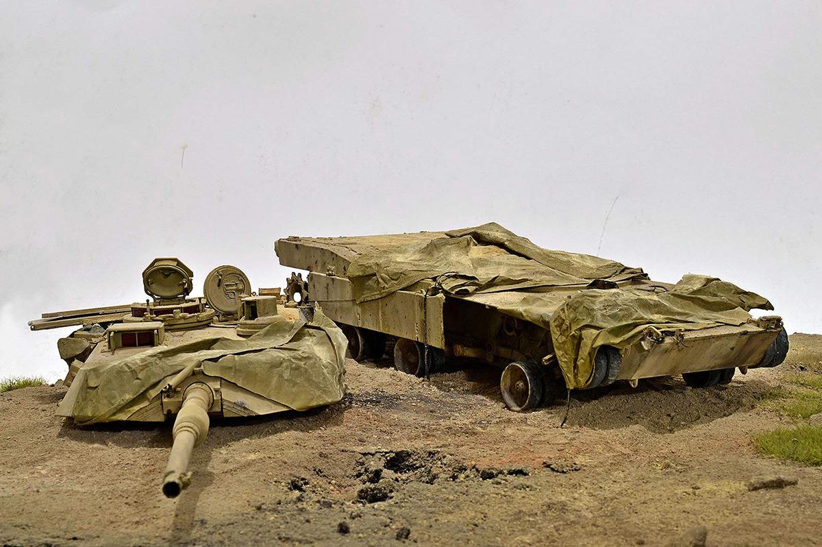 Диорамы и виньетки:  М1А2 Abrams. Башню снесло, фото #7
