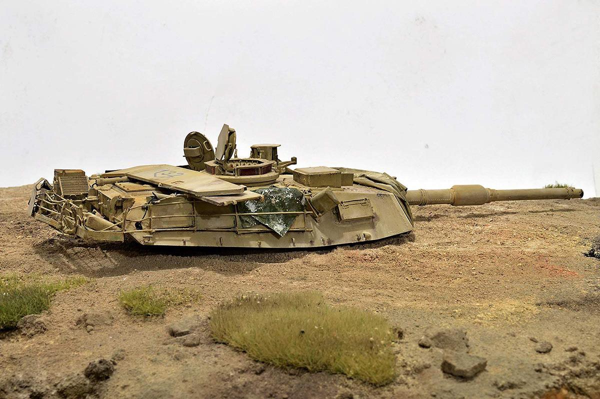Диорамы и виньетки:  М1А2 Abrams. Башню снесло, фото #8