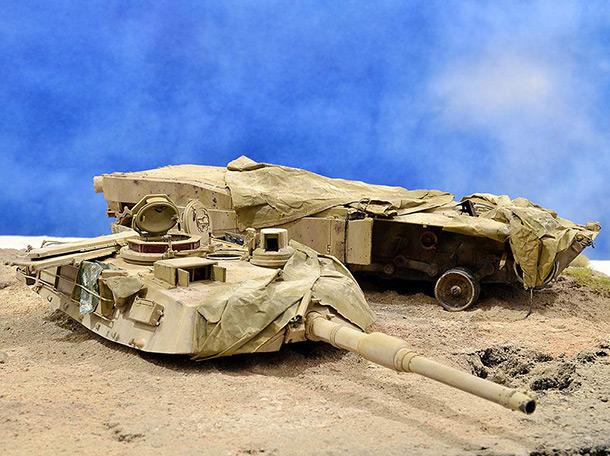 Диорамы и виньетки:  М1А2 Abrams. Башню снесло