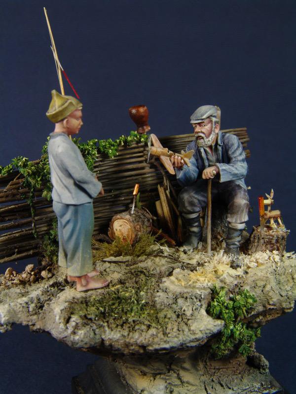 Диорамы и виньетки: Дед Щукарь., фото #2