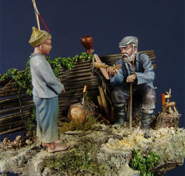 Диорамы и виньетки: Дед Щукарь.