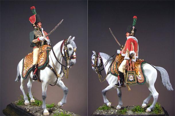 Фигурки: Офицер полка Конных егерей Императорской Гвардии