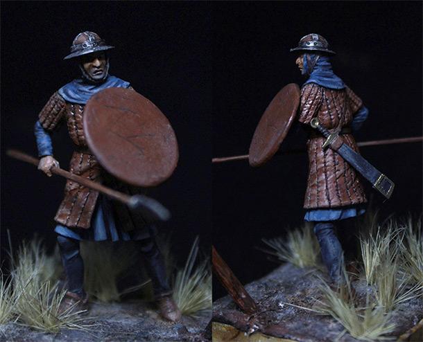 Фигурки: Английский пехотинец XIV века.