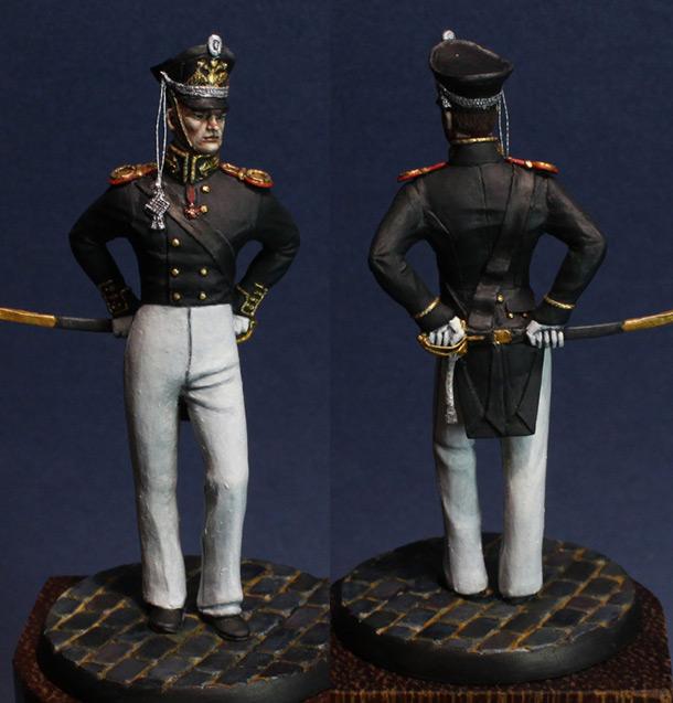 Фигурки: Обер-офицер Гвардейского Экипажа, 1812-16 г.