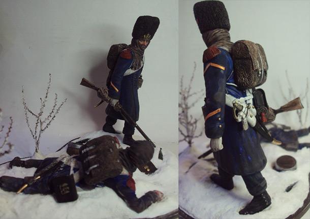 Диорамы и виньетки: Отступление армии Наполеона