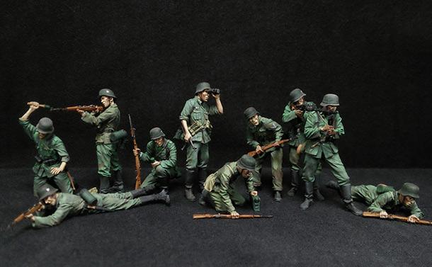 Фигурки: Немецкая пехота в бою