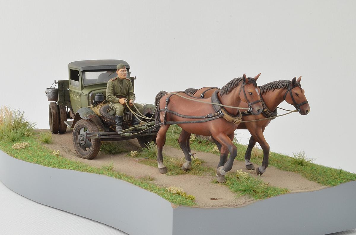 Диорамы и виньетки: ГАЗ-АА: две лошадиные силы, фото #1