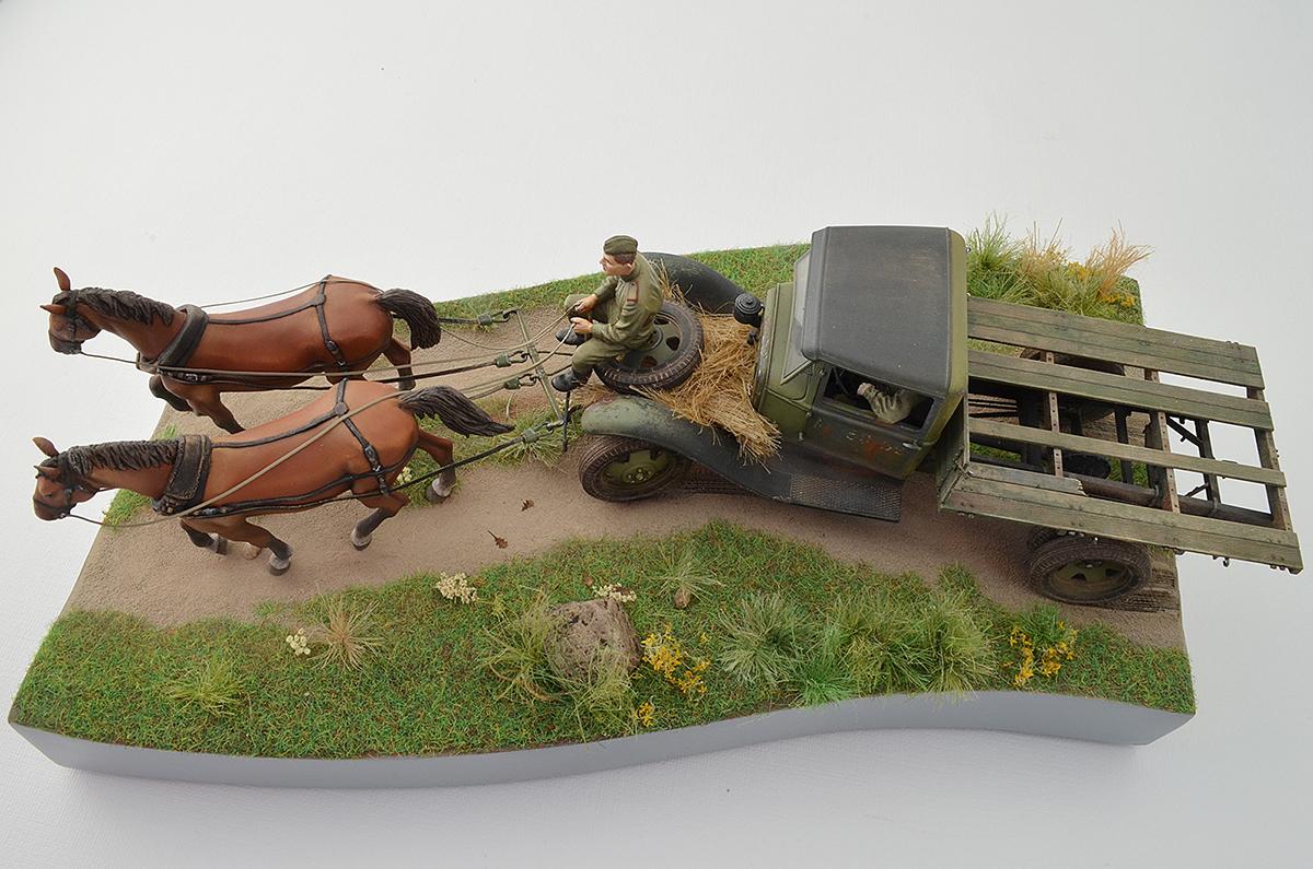 Диорамы и виньетки: ГАЗ-АА: две лошадиные силы, фото #18