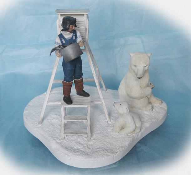Скульптура: Умка, отстань!