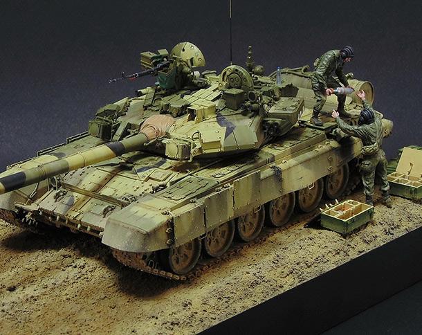 Диорамы и виньетки: Загрузка Т-90А