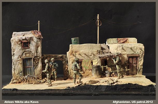 Диорамы и виньетки: Патруль в провинции Афганистана, 2012.