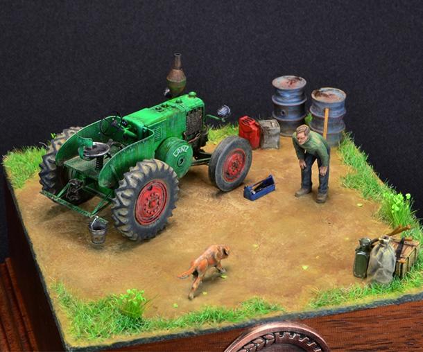 Диорамы и виньетки: Трактор LANZ Bulldog 30HP