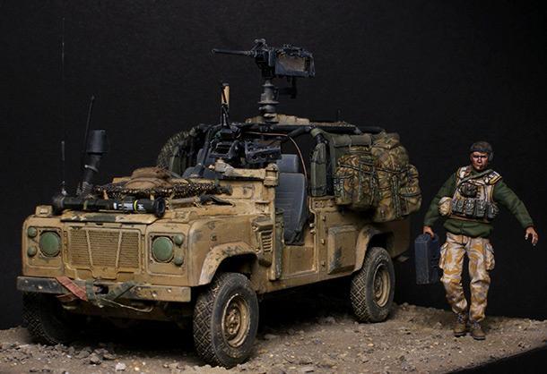 Диорамы и виньетки: Land Rover WMIK. Афганистан, 2009