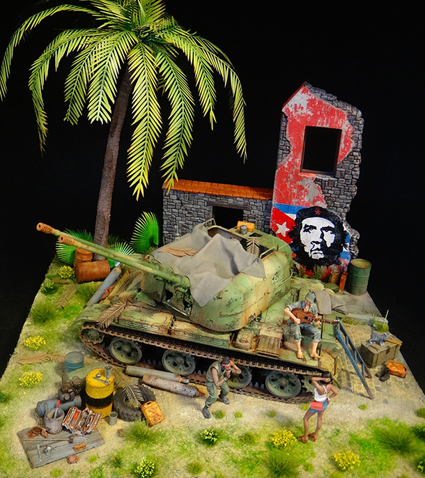 Диорамы и виньетки: ЗУ-57-2 Острова Свободы