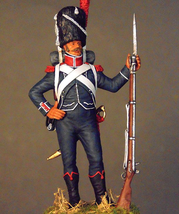 Фигурки: Франция Наполеона. Карабинер лёгкой пехоты