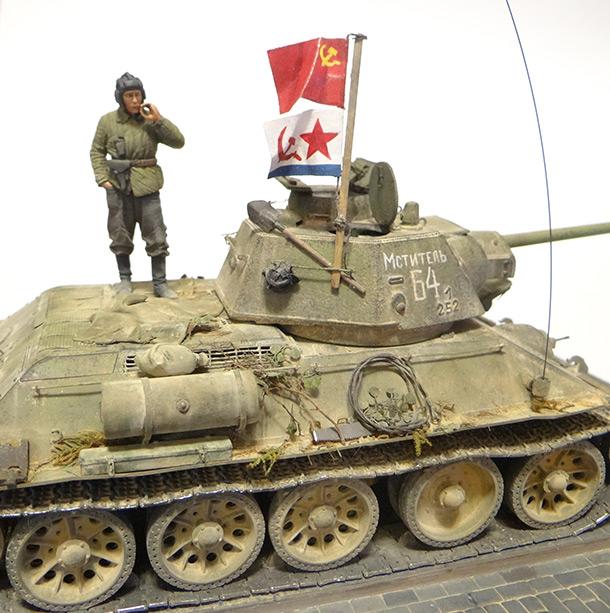 Диорамы и виньетки: Т-34-76 Крым 1944г.