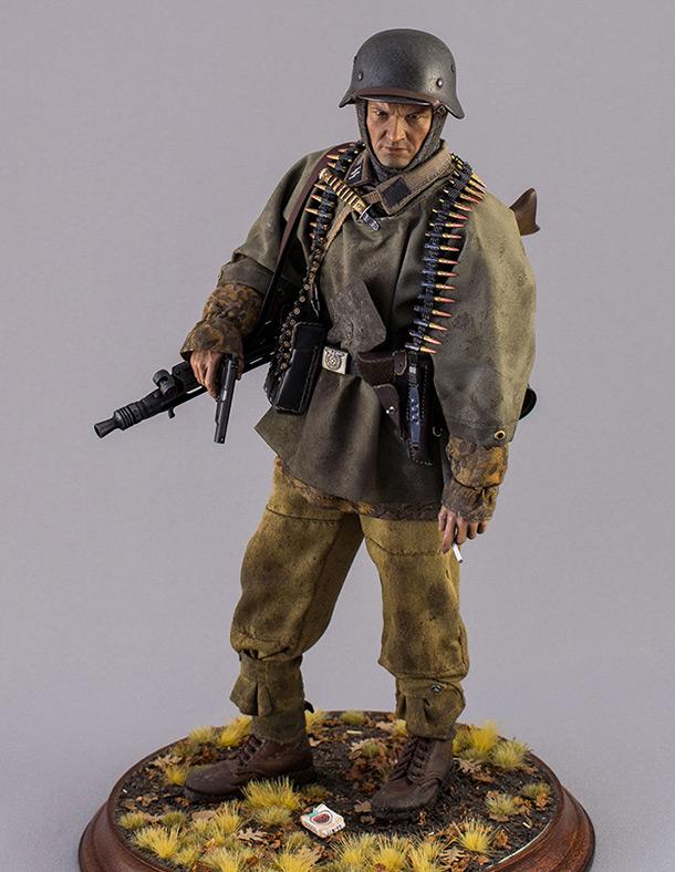 Фигурки: Пулеметчик СС из Kampfgruppe Hansen