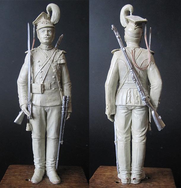 Скульптура: Рядовой армейского уланского полка, 1908-14 гг.