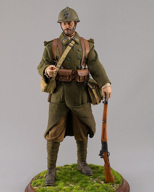 Фигурки: Пехотинец французской армии. Май 1940 г.