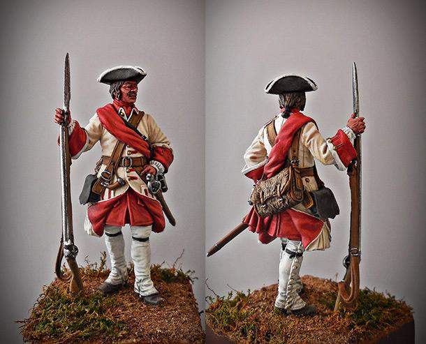 Фигурки: Капрал армейской пехоты, Россия, 1708-20 гг.