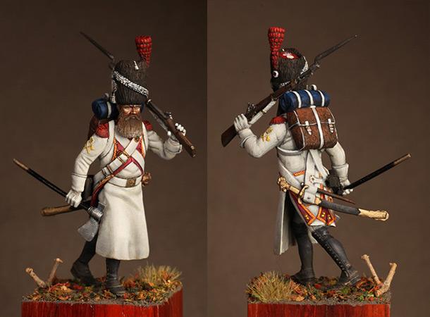 Фигурки: Сапёр голландских гренадёр. Франция, 1812 г.