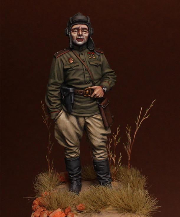 Фигурки: Гв.майор, командир танкового батальона, 1945