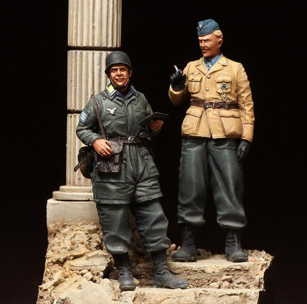 Фигурки: Немецкие парашютисты. Крит, 1941 г.