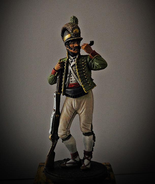 Фигурки: Рядовой Каталонского батальона лёгкой пехоты. Испания, 1807-08.