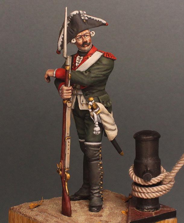 Фигурки: Мушкетер морских батальонов Балтийского флота, 1764-74 г.