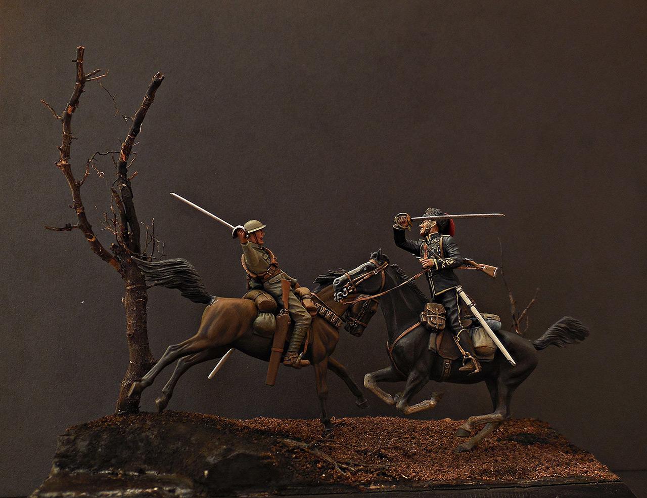 Диорамы и виньетки: Британский и немецкий кавалеристы. ПМВ., фото #1